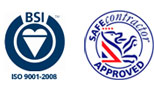 BSI ISO9001-2008, Safe Contractor Approved